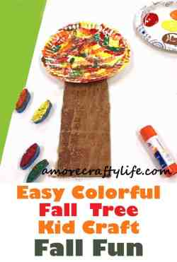 fall tree kid crafts - fall kid crafts- crafts for kids - morecraftylife.com
