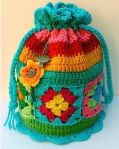 20 Bag Crochet Patterns - Cute and Colorful - A More Crafty Life