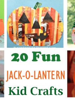 jack-o-lantern kid crafts -fall kid craft - halloween kid craft- crafts for kids - amorecraftylife.com #kidscraft #craftsforkids #preschool