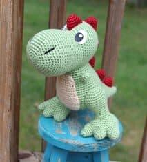 dinosaur crochet patterns - crochet pattern pdf - amorecraftylife.com