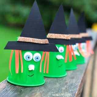 witch kid craft - halloween kid craft - fall kid craft #kidscraft #craftsforkids #preschool