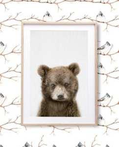 bear nursery ideas - animal nursery - woodland nursery - boy  or girl nursery theme - home decor - decorating ideas- amorecraftylife.com #baby #nursery #woodland