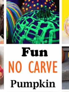 no carve pumpkin ideas - halloween kid crafts - fall kid craft -amorecraftylife.com #kidscraft #craftsforkids #preschool #halloween