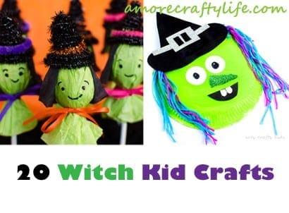 witch kid crafts - halloween kid craft - fall kid craft #kidscraft #craftsforkids #preschool