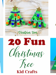 christmas tree kid crafts - christmas kid craft - arts and crafts activities - amorecraftylife.com #kidscraft #craftsforkids #preschool
