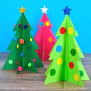 Christmas Tree Kid Crafts Christmas Fun A More Crafty Life