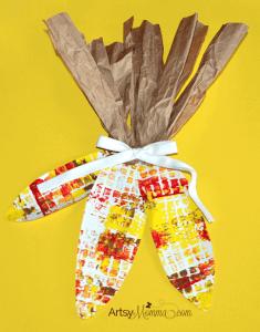 thanksgiving kid craft - turkey kid craft - fall kid craft - thanksgiving kid craft - amorecraftylife.com #kidscraft #craftsforkids #preschool