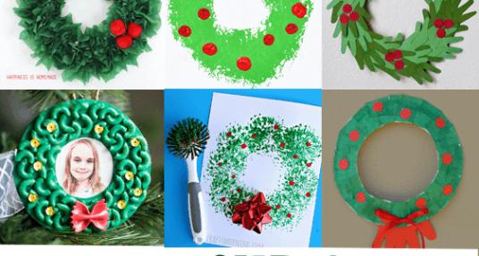 Christmas Preschool Crafts.Christmas Wreath Kid Crafts Christmas Fun A More Crafty Life