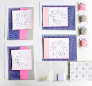 embroidery card kit - DIY craft kits - gift ideas- creative gifts - arts and crafts activities - amorecraftylife.com