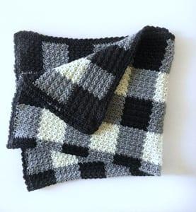 plaid crochet patterns - crochet pattern pdf - blanket crochet pattern - amorecraftylife.com #plaid #crochet #crochetpattern