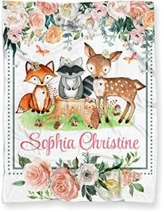 girl Woodland nursery idea - girl deer nursery - girl nursery theme - animal nursery - amorecraftylife.com #baby #nursery #babygift #woodland