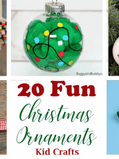 christmas ornament kid crafts - arts and crafts activities - amorecraftylife.com #kidscraft #craftsforkids #christmas #preschool