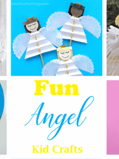 angel kid crafts - christmas kid craft - arts and crafts activities - amorecraftylife.com #kidscraft #craftsforkids #christmas #preschool
