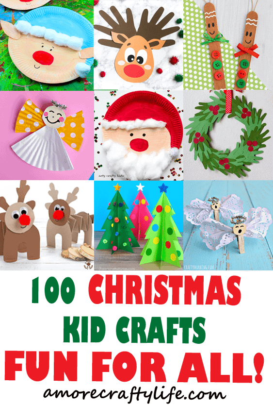 christmas kid crafts - arts and crafts activities - amorecraftylife.com #kidscraft #craftsforkids #christmas #preschool