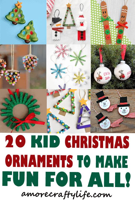 christmas ornament kid crafts - arts and crafts activities - amorecraftylife.com #kidscraft #craftsforkids #christmas #preschool