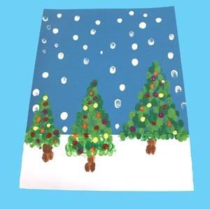Fingerprint christmas tree kid crafts - christmas kid craft - arts and crafts activities - amorecraftylife.com #kidscraft #craftsforkids #christmas #preschool