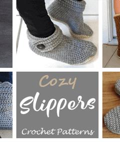 slipper crochet patterns - crochet pattern pdf - amorecraftylife.com #crochet #crochetpattern