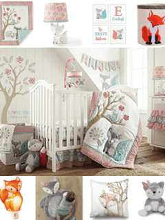 girl fox nursery idea - girl nursery theme - animal nursery - amorecraftylife.com #baby #nursery #babygift #woodland #babygirl