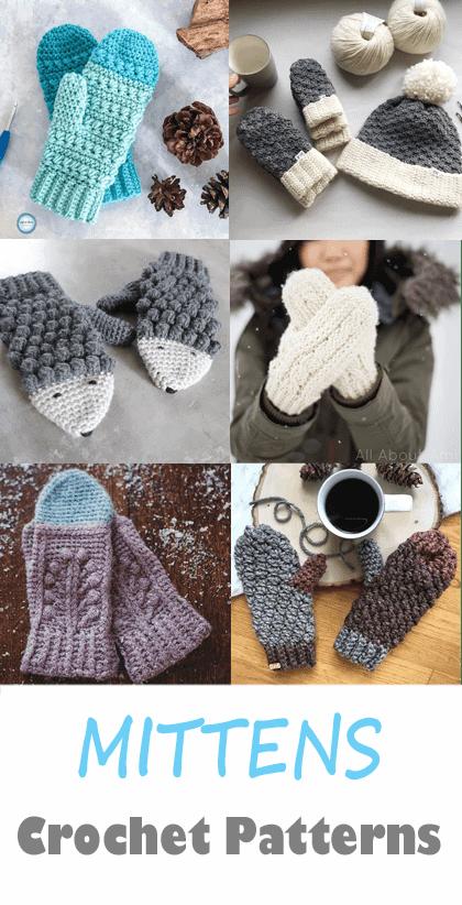 mittens crochet pattern- crochet pattern pdf - amorecraftylife.com #crochet #crochetpattern