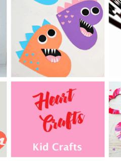 heart kid crafts - heart crafts -arts and crafts activities -valentines day kid craft- amorecraftylife.com #kidscraft #craftsforkids #valentinesday #preschoo
