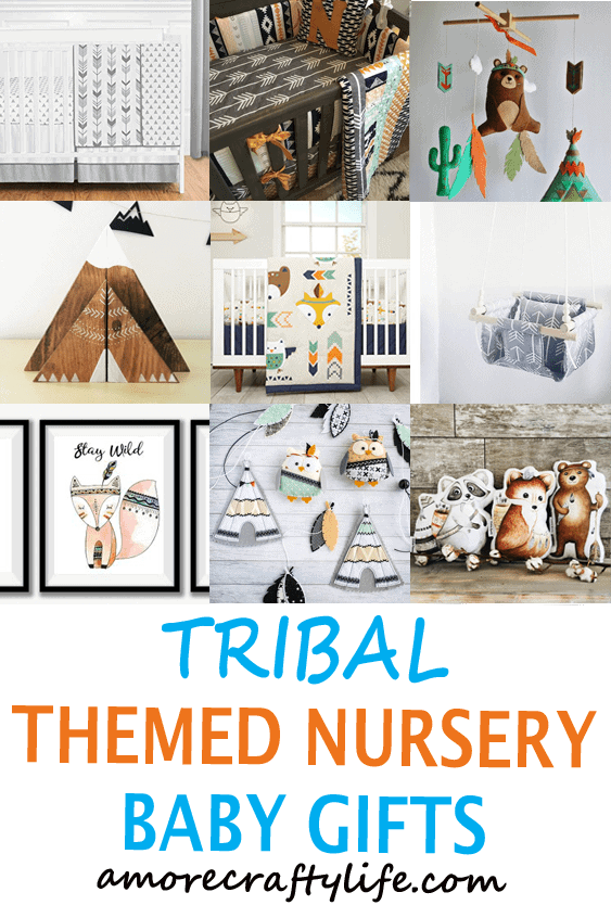 tribal nursery ideas- boy nursery theme - woodland nursery - amorecraftylife.com #baby #nursery #babygift #babyboy
