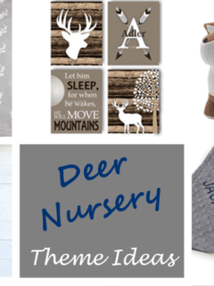 boy deer nursery -Woodland nursery idea - boy nursery theme - animal nursery - amorecraftylife.com #baby #nursery #babygift #woodland