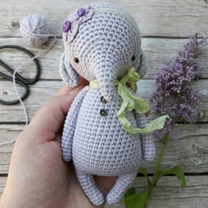 Evelyn the Elephant: Free Crochet Elephant Pattern     300x300