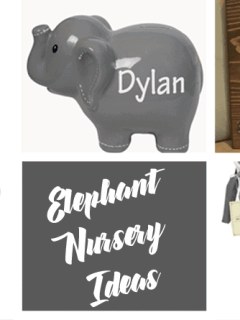 blue boy elephant nursery ideas - animal nursery - boy nursery theme - jungle theme - amorecraftylife.com #baby #nursery #babyboy