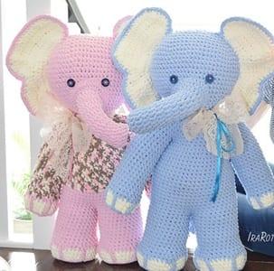 Cuddle me Elephant (Free Amigurumi Patterns) | Crochet elephant ... | 300x303