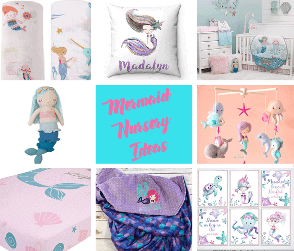 mermaid nursery idea - girl nursery theme - ocean nursery - amorecraftylife.com #baby #nursery #babygift
