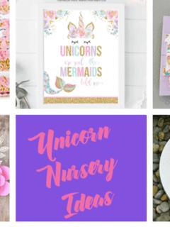 unicorn nursery idea - girl nursery theme - animal nursery - amorecraftylife.com #baby #nursery #babygift
