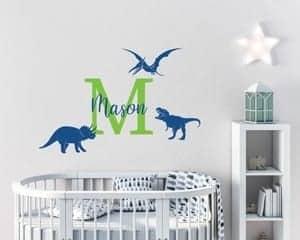 dinosaur nursery idea - boy nursery theme - o - amorecraftylife.com #baby #nursery #babygift