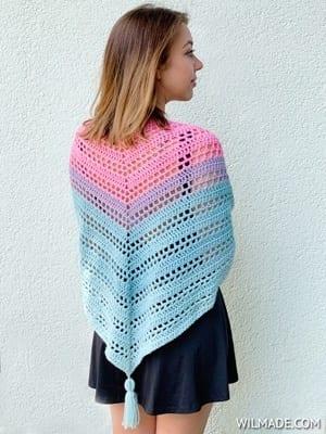 free shawl crochet pattern- scarf crochet pattern -crochet pray shawl pattern pdf wrap paid and free- amorecraftylife.com #crochet #crochetpattern
