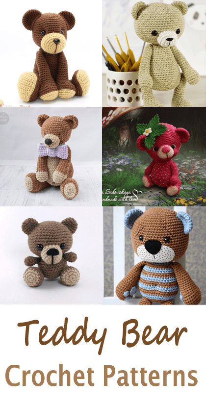 Tiny teddy bear crochet pattern   Amiguroom Toys   822x420