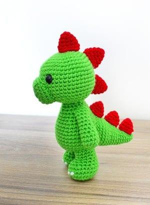 dinosaur crochet patterns - crochet pattern pdf - amorecraftylife.com #crochet #diy