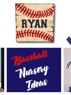 baseball nursery idea -sports - boy nursery theme - amorecraftylife.com #baby #nursery #babygift