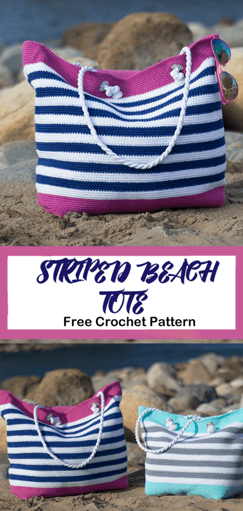 beach bag crochet pattern - free crochet pattern- pattern pdf - amorecraftylife.com #crochet #crochetpattern #freecrochetpattern