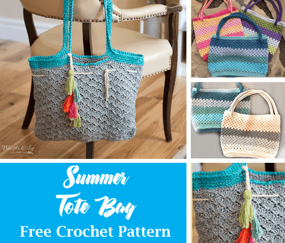 tote free crochet pattern - bag crochet pattern- pattern pdf - amorecraftylife.com #crochet #crochetpattern #freecrochetpattern