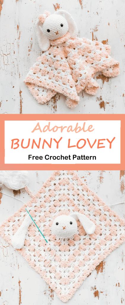 bunny lovey crochet pattern - amorecraftylife.com #baby #crochet #crochetpattern #freecrochetpattern
