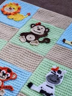 jungle baby blanket crochet patterns - pattern pdf - amorecraftylife.com amigurumi #crochet #diy
