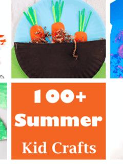 summer Kid Crafts- amorecraftylife.com #kidscrafts #craftsforkids #preschool