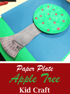 apple tree kid crafts- fall kid craft - autumn kid craft - amorecraftylife.com #kidscrafts #craftsforkids #preschool #fall