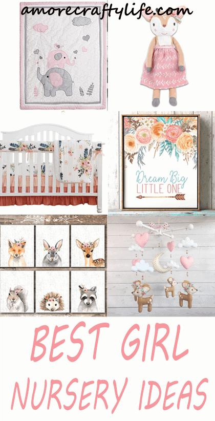 best girl nursery themes ideas- decor amorecraftylife.com #baby #nursery #babygift