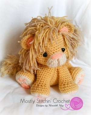 Amigurumi – Saroo the lion - crochet – tutorial | 377x300