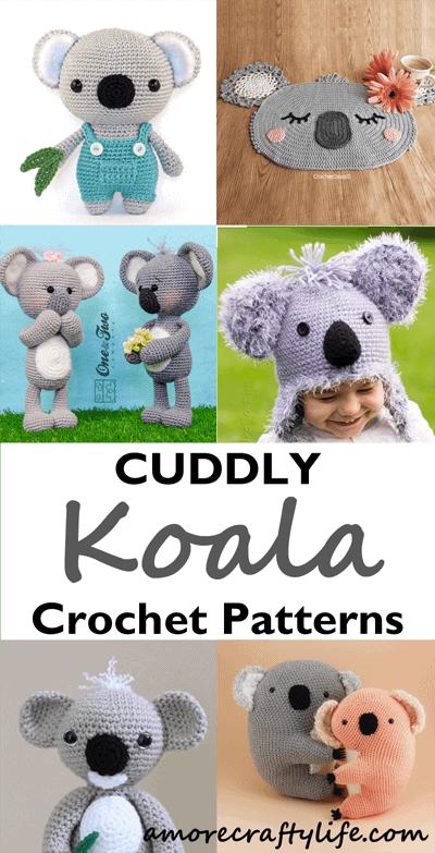 koala crochet patterns- - amigurumi crochet koala pattern - amorecraftylife.com #crochet #crochetpattern #diy