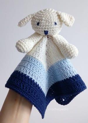 puppy baby lovey blanket crochet pattern - amorecraftylife.com #baby #crochet #crochetpattern #freecrochetpattern
