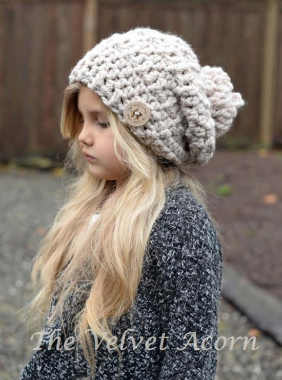 Bain bulky hat crochet patterns- winter hat crochet pattern- amorecraftylife.com #crochet #crochetpattern #diy