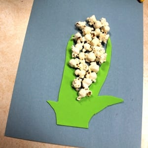 popcorn corn kid craft - fall kid craft - harvest kid craft - farm - amorecraftylife.com #kidscrafts #craftsforkids #preschool #fall