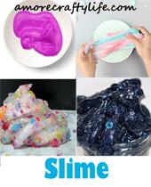 slime recipes - kid activity - amorecraftylife.com #kidscrafts #craftsforkids #diy