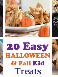 easy party treats- halloween fall snacks - school parties - recipes for kids - amorecraftylife.com #kidsactivities #halloween #preschool